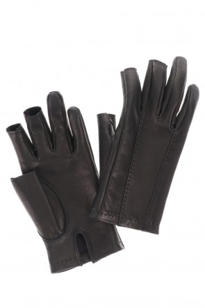 DEVOA 20-21AW Deer Leather Gloves Fingerless type