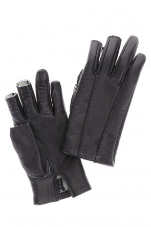 DEVOA 20-21AW Leather Gloves Fingerless type Calf leather