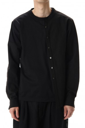DUELLUM 20-21AW Asymmetric Collarless Shirt
