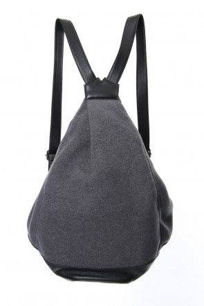 Discord Yohji Yamamoto 18-19AW Switching Tuck Back Pack BIG Brushed & Leather - DV-I10-903 Gray