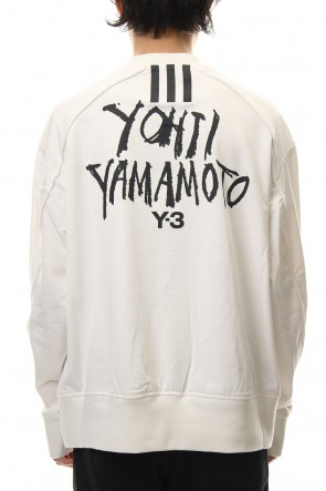 Y-3 19SS Y-3 Signature Graphic Sweatshirt Core White