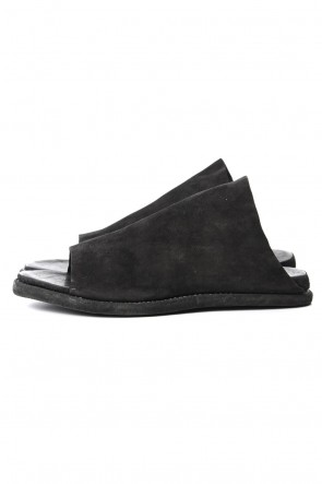 Guidi 19SS Leather Sandal KANGAROO REVERSE - Black