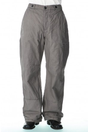 GARMENT REPRODUCTION OF WORKERS 21SS farmers trousers wide silhouette-Bark dye