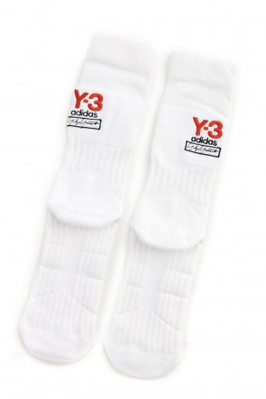 Y-3 19-20AW Y-3 Logo Sock White