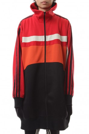 Y-319-20AWOversized Varsity Track top Red