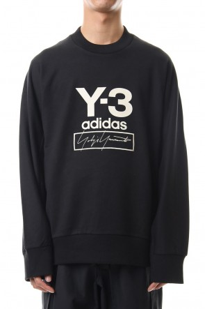 Y-3 19-20AW Stacked Logo Crew sweater Black