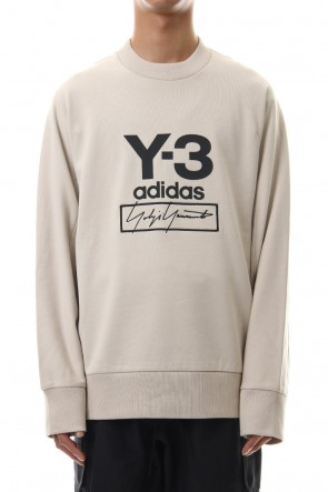 Y-3 19-20AW Stacked Logo Crew sweater Ecru