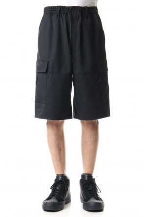Y-3 20SS CLASSIC REFINED WOOL STRETCH CARGO SHORTS
