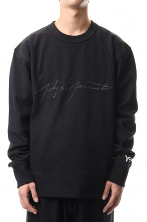 Y-3 20SS DISTRESSED SIGNATURE CREW SWEATSHIRT