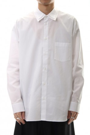 Ground Y 20SS W Collar shirt White