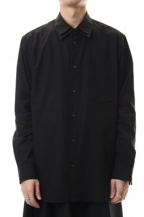 Ground Y 20SS W Collar shirt Black