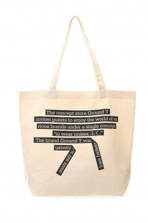 Ground Y 20SS Message Tote bag