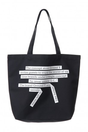 Ground Y 19-20AW Message Tote bag