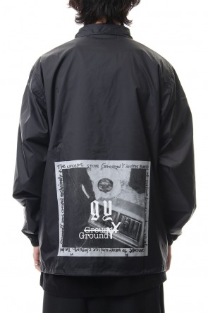 Ground Y 19-20AW Emblem/Rin print nylon coat jacket