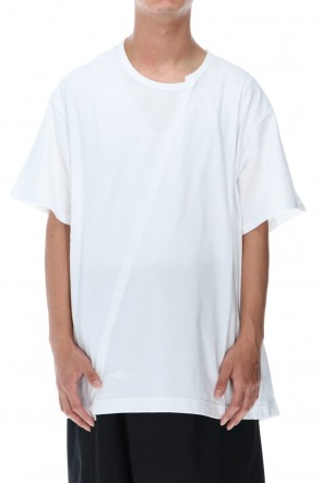Ground Y Classic Jersey Back and Front Difference T White