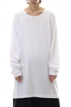 Ground Y Classic Side button Long sleeve Jumbo tee White