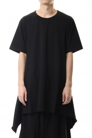 Ground Y 20SS Side drape cut sew Black