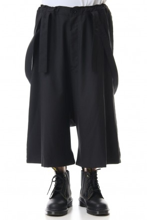 Ground Y 20SS T/W gabardine Suspenders Cropped pants