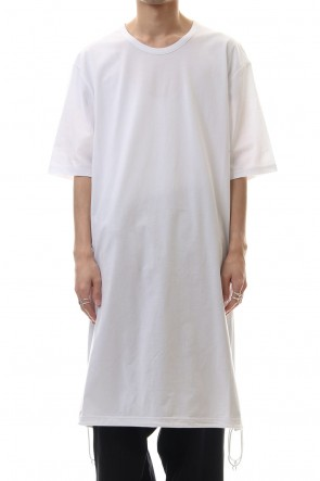 Ground Y 20SS A Tied Short Sleev Cut Sew White
