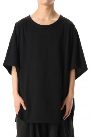 Ground Y 20SS Dolman Round Short Sleeve Cut Sew Black