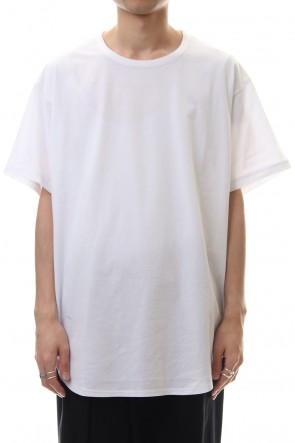 Ground Y 20SS Round Short Sleeve Cut Sew White