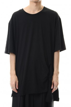 Ground Y 20SS Twisted Big Cut Sew Black