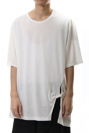 Ground Y 20SS Twisted Big Cut Sew White
