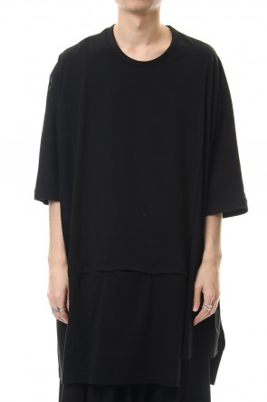Ground Y 20SS Snap slit Long Cut Sew Black