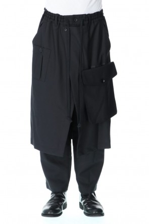 Ground Y20-21AWBack tape wrap pants