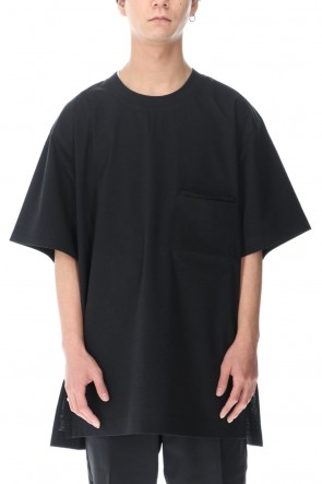 Y-3 21SS Classic Paper Jersey Pocket tee Black