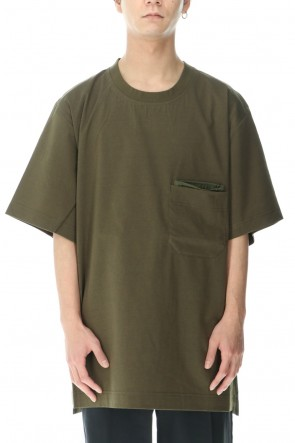 Y-3 21SS Classic Paper Jersey Pocket tee Khaki