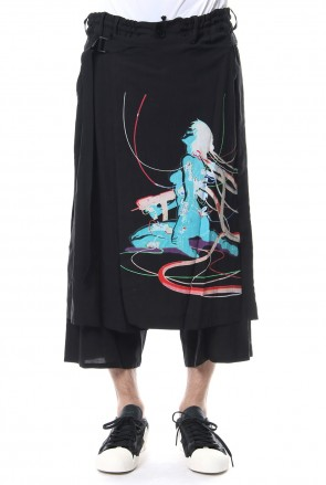 Ground Y 18SS Wrap Skirt Pants Type2 Ghost In The Shell - Ground Y