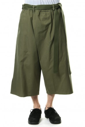 Ground Y 19SS Left wrap pants Kahki
