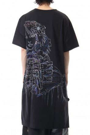 Ground Y 19SS Long cut&sewn - INNOCENCE Original picture Android PT Black