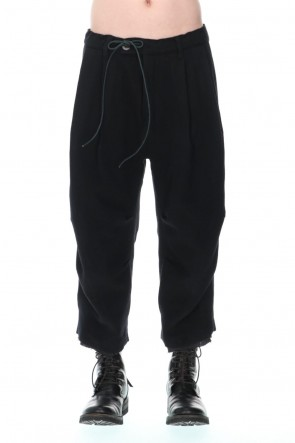 D.HYGEN21-22AWMinimal Dobby Striped Pleated Cropped Pants Black