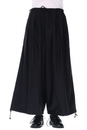 Yohji Yamamoto 20-21AW Embroidery Cotton Twill Balloon Pants