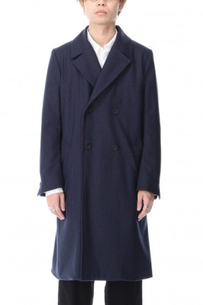 RICORRROBE 20-21AW Chalk Stripe Flannel W-Breasted Coat