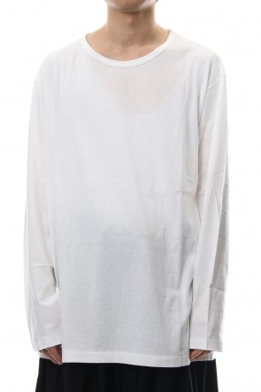 Yohji Yamamoto 18-19AW Round neck Long sleeve 30/- Shankar Jersey stitch Off White