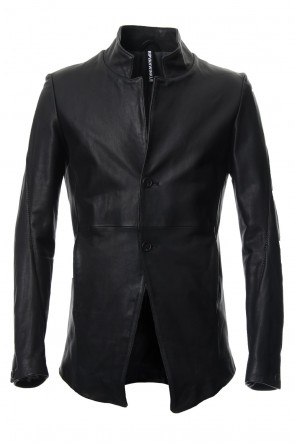 RIPVANWINKLE 18-19AW Cow Hide Draping Leather jacket RB-029 Black