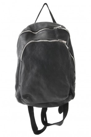 Guidi BASIC Soft Horse Leather Back Pack - DBP05 - BLACK