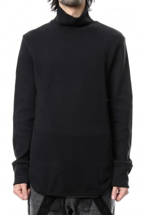 RIPVANWINKLE 18-19AW Double Face Shift Turtle neck L/S RB-013 Black