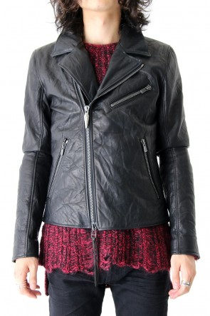 FAGASSENT17-18AWDouble Riders Classic Cow Leather Jacket