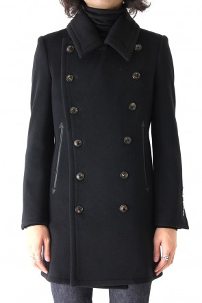 QL Mansion Maker 17-18AW TASMANIAN WOOL CASHMERE MELTON PEACOAT