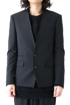 DIET BUTCHER SLIM SKIN 18SS Cut Off Collar Tailored Jacket