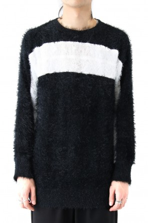DIET BUTCHER SLIM SKIN 18SS Shaggy Knit Pullover