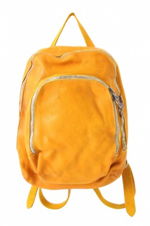 Guidi BASIC Soft Horse Leather Back Pack - DBP05 - YELLOW
