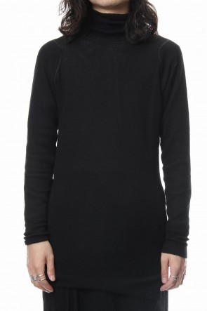 The Viridi-anne 18-19AW Rib knitting asymmetry turtleneck
