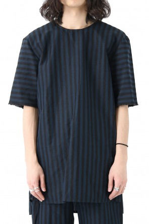 DAMIR DOMA18SSStriped Cotton Pullover Shirt THERI