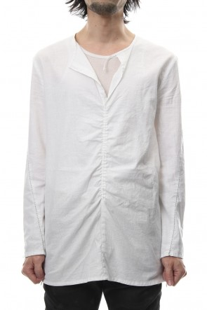 RIPVANWINKLE 18-19AW Slab Serge Natural Stretch Over Dye Shirts RB-017 White