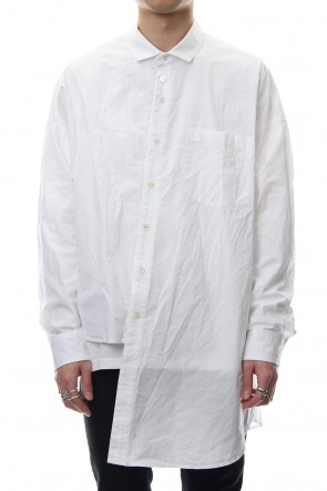 DIET BUTCHER SLIM SKIN 18SS Asymmetry Long Shirt
